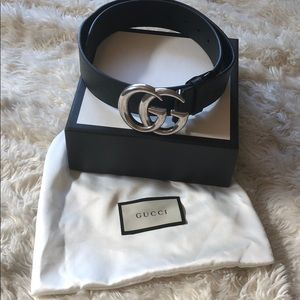 Silver Gucci Belt